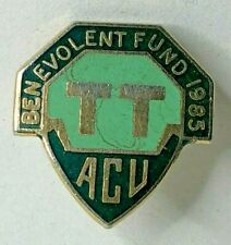 More details for 1985 auto cycling union isle of man tt benevolent fund enamel badge 22 x 21 mm