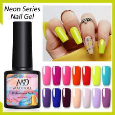 Serie De Neón 8ml Mad Muñeca Esmalte Gel UV Soak Off Nail Art barniz Colorido Decoración