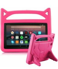 For Amazon Kindle Fire HD 10 9th Gen Kids Shockproof pink