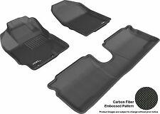 3D Anti-Skid 1 Set Fits Yaris 2012-2014 GTCA22587 Black Waterproof Auto Parts Pe