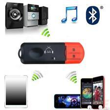 Mini Wireless Bluetooth Car Kit Hands free USB Jack AUX Audio Receiver Ada Fast