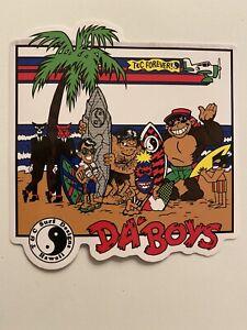 T&C Town Country Surfboards Hawaii DA BOYS Surfing STICKER Joe Cool Tribal Cats