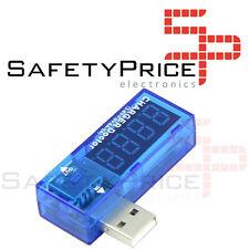 TESTER USB Tensione Ampere PC Portatile Amperaggio Di Voltmetro Smartphone Auto
