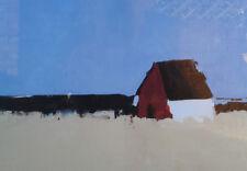 Sandra Pratt (USA, b.1958) The Red Farmhouse. Framed impressionist print.