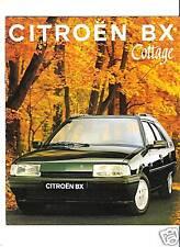 CITROEN BX COTTAGE - 1993 / catalogue brochure prospekt dépliant catalog