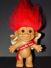 "Troll Doll 4 1/2"" Russ Anniversary/Valentine's Gold Cupid ""Friend are Forever"""