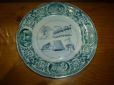 Ancienne assiette rébus de Sarreguemines