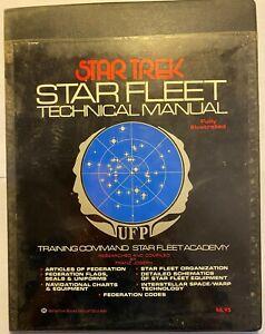 Star Trek Star Fleet Technical Manual 1975 1st Edition 1st Printing