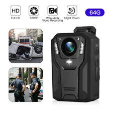 BOBLOV HD 1296P Body Worn Camera 64GB Police DVR Video Recorder IR Night Vision