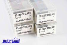 Fleischmann 5740, 5741, 5744 y 5746, H0 Lote de Vagones de pasajeros  DR