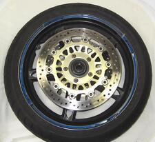 """R&g bleu foncé 16 pièces modulaire moto jante bande pour 17"""" jantes"""