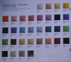 "Duncan Design-Coat ""DN"" Versatile Underglaze Variety Different Colors 2 oz."