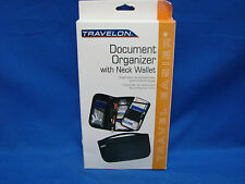 Travelon Document Organizer eith Neck Wallet Black