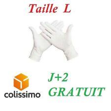 100 gants en Latex, Taille L , Médical, LIVRAISON GRATUITE