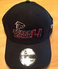 Atlanta Falcons M/L New Era NFL Super Bowl LI 39THIRTY Flex Fit Black Hat SB 50