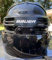 Bauer 4500 Ice Hockey Helmet Black Size Extra Large And Tinted Visor