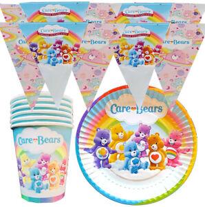 CAREBEARS CARE BEARS BIRTHDAY IDEA PLATE CUPS party balloon decoration supplies