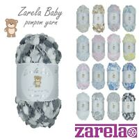 Zarela Baby Pom Pom Yarn Wool 200g ***VARIOUS COLOURS***