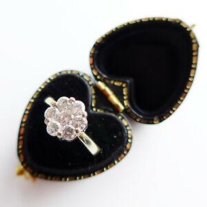 Diamond Daisy Engagement Ring 1 Carat Diamonds 18ct Gold