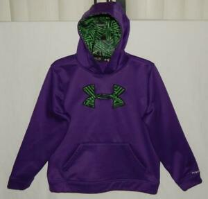 "UNDER ARMOUR Youth Boys ""Big Logo"" Purple Hoodie Sweatshirt Size XL (16)"