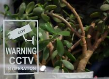 Warning CCTV In Operation Sticker Premises Security Warning Window (STKCN00007)