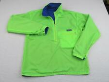 Vintage PATAGONIA Mens Neon Green Blue Reversible Nylon Jacket Small Windbreaker