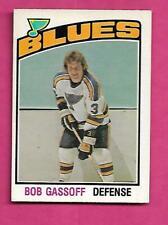 1976-77 OPC # 301 BLUES BOB GASSOFF 2ND YEAR  EX-MT CARD (INV# C4807)