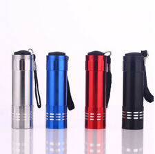 Aluminum Mini Flashlight 4PK Camping Hiking Hunting Fishing 9 LED/80 Lumens