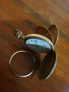 Antique full hunter Baume Longines pocket watch