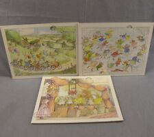 """Angelina the Ballerina Lot of 3 Sealed Frame Tray Puzzles NEW 8x10"""" Collection"""