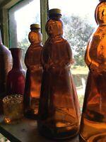 Vintage Brown Glass Jar Mrs Butters Worth 16oz Bottle Kitchen Syrup Jar no label