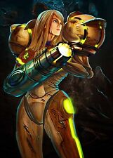 Metroid Samus Aran - Full / Huge -  Wall  Poster 40 in x 28 in ( Fast Shipping )