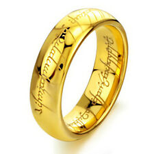 Gold Plated Lord of the Rings Necklace The One Ring Lotr Pendant Stainless Steel