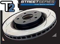 DBA T2  SR20DET Front Slotted BRAKE Rotors FIT NISSAN SILVIA S14 S15 200SX SR20