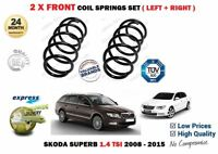 FOR SKODA SUPERB 1.4 TSI 125BHP 2008-2015 NEW 2X FRONT COIL SPRINGS SET