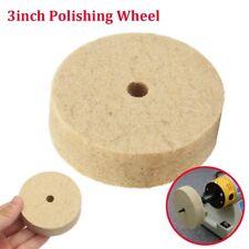 3'' inch Felt Polishing Wheel Felt Wool Buffing Polishers Pad 10mm x 80mm x 22mm