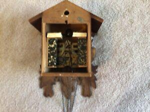 Vintage Black Forest Cuckoo Clock Works Good