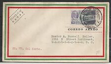 Mexico covers 1930 Airmail FDC cover to Washington