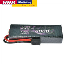 HRB 7.4V 6000mAh 2S LiPo Battery 60C-120C Hard case Traxxas For RC Car Truck