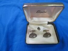 Perfect Vintage Esquire Brand Cufflinks and Tie Tac set