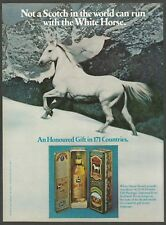 WHITE HORSE Scotch Whisky 1978 Holiday Gift Package - Vintage 1978 Print Ad