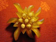 BROCHE ancienne EDELWEISS Vintage! ANTIQUE EDELWEISS BROOCH