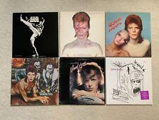 David Bowie Lot Vinyl Record Album Covers Only Aladdin Sane Diamond Dogs Pin Ups