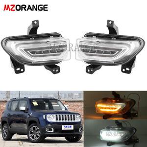 DRL For Jeep Renegade 2015-2018 LED Daytime Running Light Fog Lamp Turn Signal