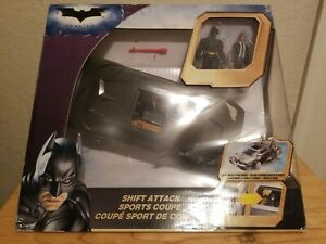THE DARK KNIGHT SHIFT ATTACK SPORTS COUPE BRUCE WAYNE/BATMAN MATTEL NEW IN BOX!
