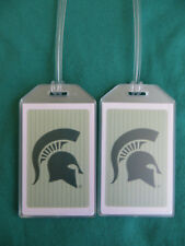 MICHIGAN STATE UNIVERSITY LUGGAGE TAGS 2-TAG SET - VICTOR - MARCH MADNESS 2018