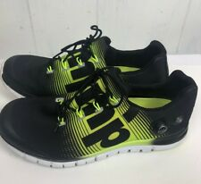 Reebok Size 10 ZPUMP Fusion M47888 Black Solar Yellow Marathon Running Shoes