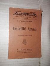 CONTABILITA AGRARIA Venanzio Manvilli Giusti 1922 scienza agricoltura libro di