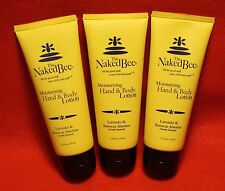 The Naked Bee 3-2.25 oz Moisturizing Hand and Body Lotion Lavender & Beeswax Abs
