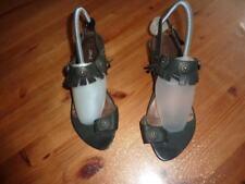 SANS INTERDIT  Chaussures  39 sandales nu pieds tong shoes noir cuir femme